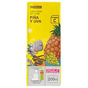 Eroski Zumo de piña-uva Pack 6x20 cl