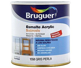 BRUGUER Esmalte Decorativo Acrílico, Color Gris Perla, Acabado Satinado 0,25 Litros