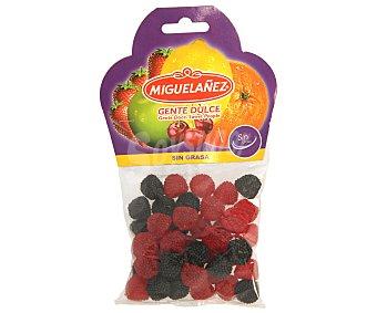 Miguelañez Caramelos de goma con forma de mora negra y roja 150 gramos