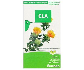 Auchan CLA (ácido linoleico conjugado), complemento alimenticio 60 unidades