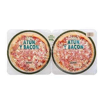 Hacendado Pizza fresca atún bacon 440 g