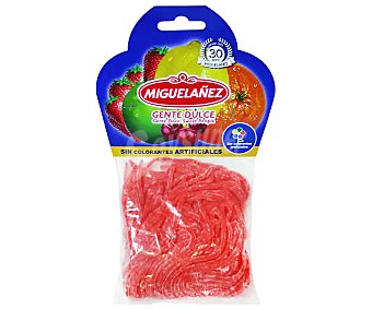 Miguelañez Gominolas blandas de fideos rojos bolsa 150 g