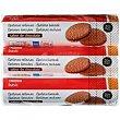 Galleta rellena de chocolate Pack 3x250 g Eroski Basic