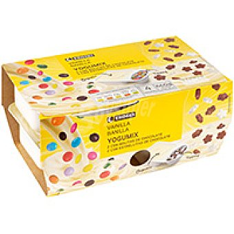 Eroski Yogumix de vainilla-cereal Pack 4x165 g