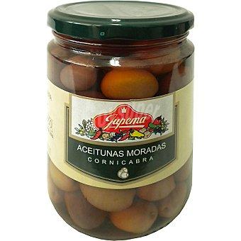 Jupema Aceitunas moradas cornicabra Frasco 250 g neto escurrido