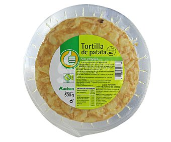 Productos Económicos Alcampo Tortilla de patata sin cebolla 500 gramos