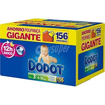 Dodot Pañales de 4 A 10 kg talla 1 caja (156 unidades)
