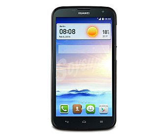 MUVIT Carcasa trasera Minigel negra, válida para Huawei G730. (teléfono no incluido)