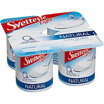 Sveltesse Nestlé Yogur natural desnatado Pack de 4x125 g