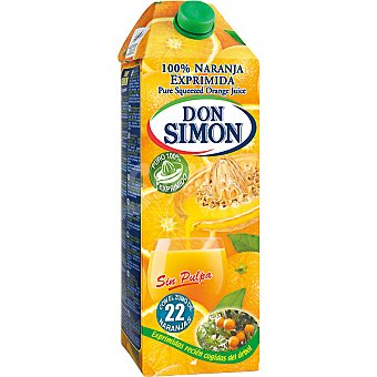 Don Simón Zumo de naranja exprimido con pulpa Brik de 1.5 l