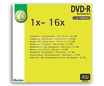 Productos Económicos Alcampo Dvd+r 4,7GB sleeve 16X 1Und