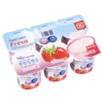 DIA Yogur fresa desnatado Pack 6 unidades 125 g