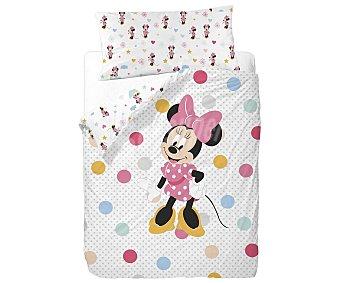 Minnie Disney Funda nórdica 50% algodón con estampado infantil más funda para almohada, 90cm., Disney MINNIE.