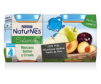 Naturnes Nestlé Tarrito de manzana golden-ciruela Pack 2x200 g