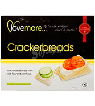 Lovemore Galletas crackerbreads sin gluten 125 g