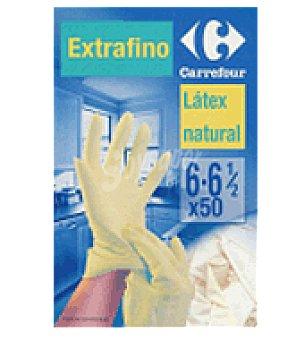 Carrefour Guantes finos latex talla 7 50 unidades