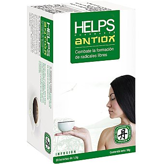 HELPS Infusión antiox combate la formación de radicales libres Estuche 20 bolsitas