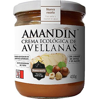 AMANDIN Crema de Avellanas Ecológica Amandín 430 g