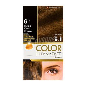 Deliplus Tinte coloracion permanente Nº 6,1 rubio oscuro ceniza u