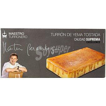 Martin Berasategui Maestro Turronero turrón de yema tostada Calidad Suprema tableta 250 g Tableta 250 g