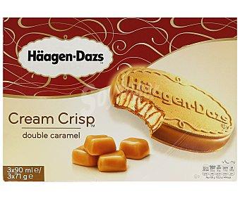 Häagen-Dazs Cream Crisp sandwich helado de caramelo con galleta de barquillo Caja 3 u x 90 ml