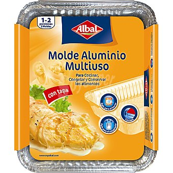 Albal Molde de aluminio igloo con tapa 500 g envase 5 unidades 500 g