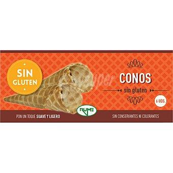 Rume Conos de barquillo sin gluten  6 unidades (estuche 80 g)