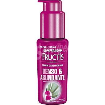 Fructis Garnier Serum densificador Denso & Abundante con fibra-cylane y extracto de granada dosificador 50 ml tras una aplicacion el pelo tiene mas densidad Dosificador 50 ml
