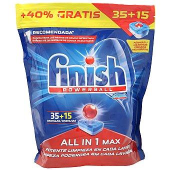 Finish Lavavajillas todo en uno all in one Paquete 50 cápsulas
