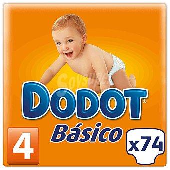 Dodot Pañales Básicos para Niños de 9 a 15 Kilogramos Talla 4 74 Unidades