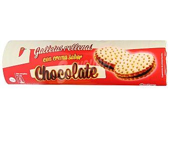 Auchan Galletas sandwich rellenas con crema sabor a chocolate 250 gramos