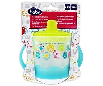Baby Auchan Taza antivuelcos de 200ml, para bebés de +3 meses 200ml