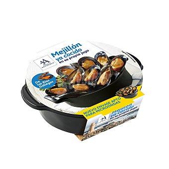 AGUINAGA Mejillón cocido en su jugo  Bandeja 400 g