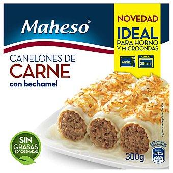 Maheso Canelones de carne con bechamel gratinados Envase 300 g