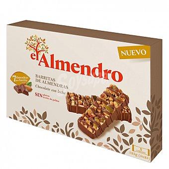 El Almendro Barritas de almendras con chocolate con leche sin gluten 125 G 125 g