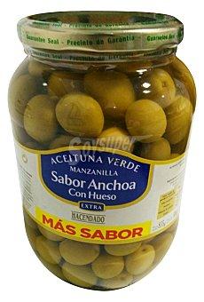 Hacendado Aceituna manzanilla con hueso sabor anchoa Tarro 500 g escurrido