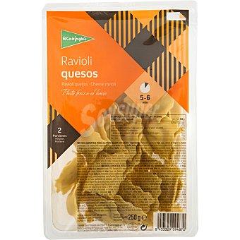 El Corte Inglés ravioli pasta fresca rellena de quesos envase 250 g
