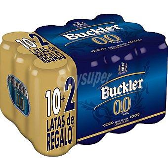 BUCKLER 0,0 cerveza sin alcohol + 2 latas de regalo pack 10 latas 33 cl