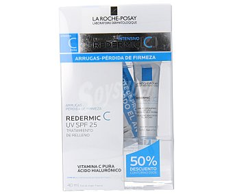 La Roche-Posay Crema antiarrugas para la pérdida de firmeza con SPF 25 40 mililitros + contorno de ojos 15 mililitros
