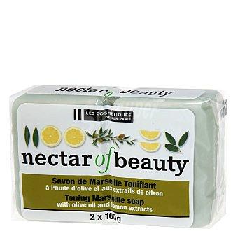 Les Cosmétiques Jabón de Marsella en pastillas Néctar of Nature con oliva y limón 2 ud
