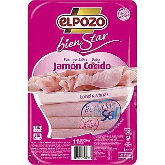 "ElPozo Jamón cocido en lonchas ""bienestar"" sin sal 0% 125 g"