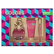 Lote mujer colors pink eau toilette vaporizador 50 ml + body locion 50 ml + eau toilette vaporizador mini 15 ml 1 lote  Benetton
