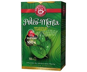 Pompadour Poleo-menta, compatible con máquinas de café Nespresso Estuche de 10x22 g