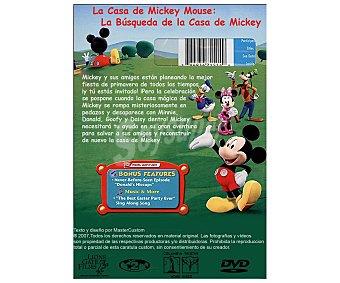 ANIMACIÓN Película en Dvd La casa de Mickey Mouse 1: La búsqueda de la casa Mickey, Disney. Género: infantil, preescolar, animación. Edad: TP