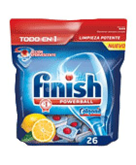 FINISH CALGONIT Pastillas limon 26 UNI