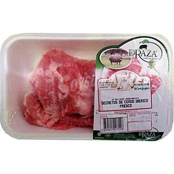 DERAZA Secretos frescos de cerdo ibérico peso aproximado Bandeja 400 g