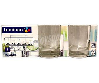 LUMINARC Pack de 3 vasos altos modelo Islande, con capacidad de 38 centilitros y fabricados en vidrio transparente 1 Unidad