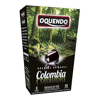 Oquendo Café grandes orígenes Colombia compatible con Nespresso 10 c