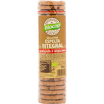 Biocop Galletas de espelta integral con chocolate y avellanas ecológicas Envase 250 g