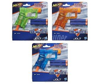 Nerf Pistola mini, lanzadora de dardos de foam n-strike Jolt, inlucye 2 proyectiles nerf